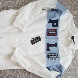 Polo Men's Long Sleeve Classic Oxford Shirt Sz L